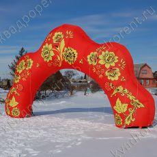 Пневмофигура надувная арка «Хохлома»