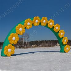 Надувная арка с ромашками