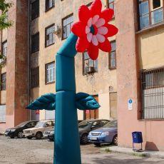 Пневмофигура танцующий цветок 5 метров