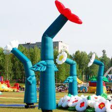 Пневмофигура танцующий цветок 4 метра