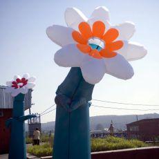 Пневмофигура танцующий цветок 6 метров