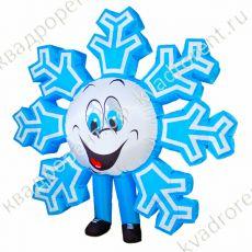 Надувной костюм Снежинка