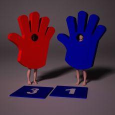 Аттракцион «Ладошка», синего и красного цвета