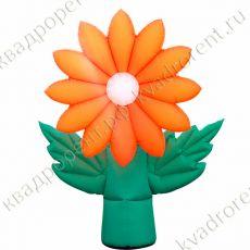 """Воздушный цветок """"Хризантема"""" оранжевая"""