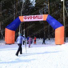 Пневмоконструкция арка Финиш в Березовском