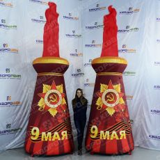 Стелы высотой 2,5 метра и пламенем 1,5 метра
