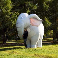Огромные надувные ростовые костюмы слона и зефирки