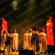 Спецэффект имитация пламени на конкурсе Будущих мам1