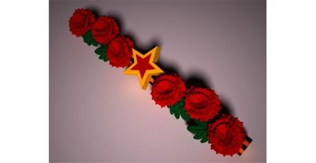 Воздушная гирлянда с цветами для украшения праздника дня Победы