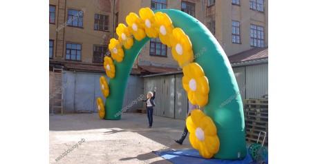 Пневмофигура надувная арка с цветами