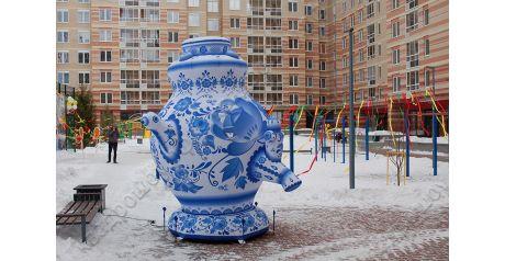 Надувная декорация: расписной под гжель русский самовар