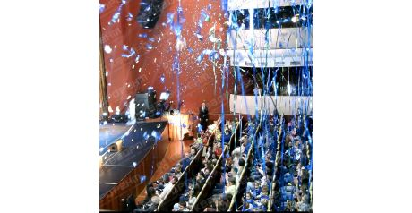 Голубой серпантин для фестиваля1