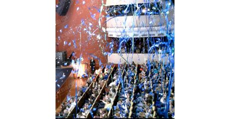 Голубой серпантин для фестиваля3