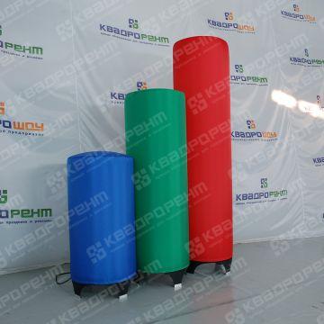Надувные декорации: цилиндры разных цветов