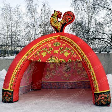 Торговая палатка для масленицы под хохлому