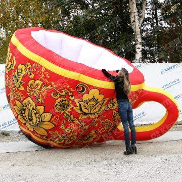 Большая надувная копия чашки для выставки ярмарки в аренду