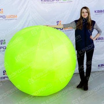 Надувная фигура мяч желтого цвета большого диаметра