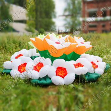 Надувные цветы и гирлянда