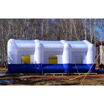 Надувной павильон - шатер белосиний