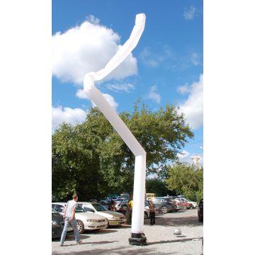 Воздушная аэротруба белого цвета 12 метров