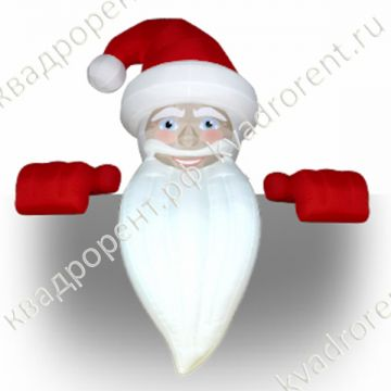 Надувная фигура Дед Мороз на крышу