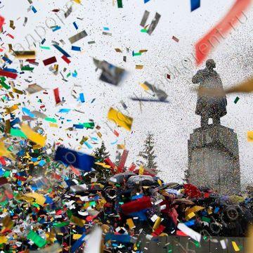 Спецэффект выстрел конфетти на празднике