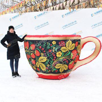 надувная декорация чашка хохлома пневмофигура