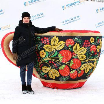 Надувная декорация чашка для уличного оформления Масленицы