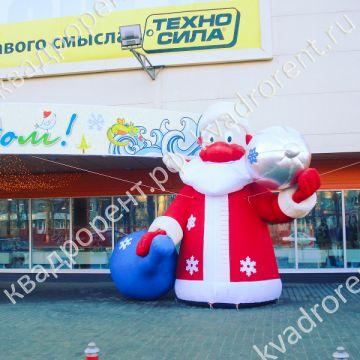 Надувная фигура Дед Мороз с шаром