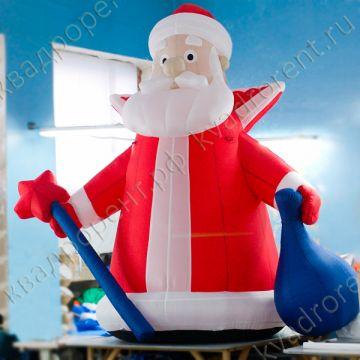 Пневмофигура Надувной Дед Мороз с посохом1