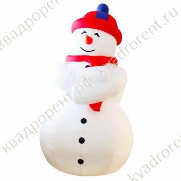 Надувная фигура Снеговик в шапке