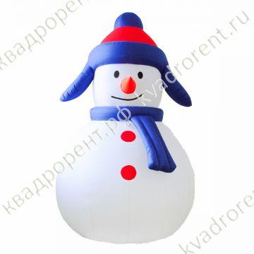 Надувная фигура Снеговик в ушанке