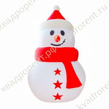 Надувная фигура Снеговик со звездами