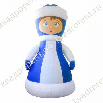 Пневмофигура надувная снегурочка в синем платье
