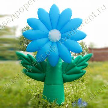 """Воздушный цветок """"Хризантема"""" голубая"""