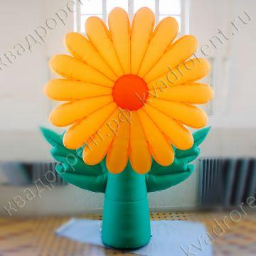 """Воздушный цветок """"Ромашка"""" желтая"""
