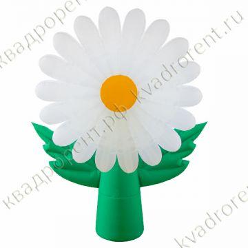 """Воздушный цветок """"Ромашка"""" белая"""