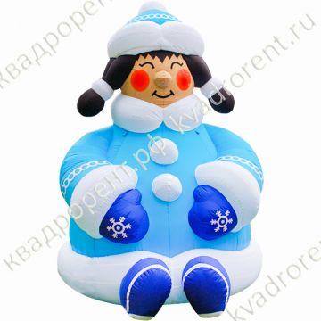 Надувная фигура Снегурочка румяная