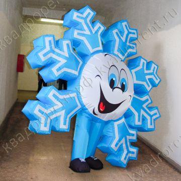 Надувной костюм Снежинка веселая