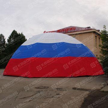 Надувной шатер триколор вид снаружи