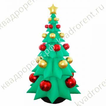Надувная елка с красными шарами