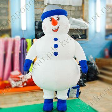 """Пневмофигура Надувной костюм """"Снеговик""""2 высотой 2,6м"""