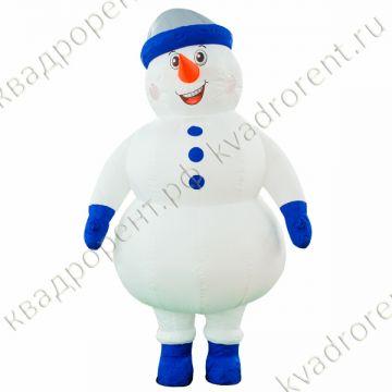 """Пневмофигура Надувной костюм """"Снеговик""""1 высотой 2,6м"""