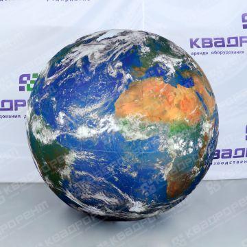 Огромный надувной мяч планета земля