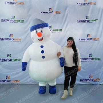 Надувной костюм снеговика