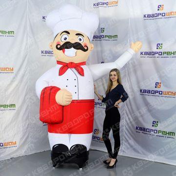 Надувной повар - реклама ресторана