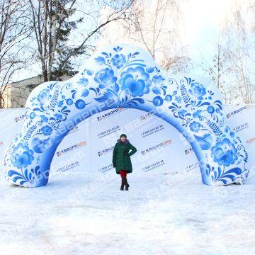 уличная надувная арка гжель декоративная в аренду