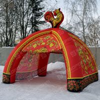 Надувная палатка хохлома для торговли на масленицу