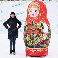 Пневмофигура Матрёшка Хохлома